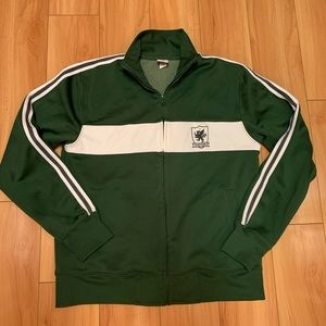 OLD NAVY retro inspired green stripe track jacket